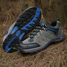 Spring Outdoor Shoes Sport Good Quality Men Hiking Camping Army Green Women Big Size 36-47 Suede Sneakers