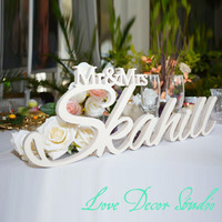 Personalized White Letter Mr And Mrs LAST NAME Wedding Custom Wedding Sign Mr Mrs Last Name