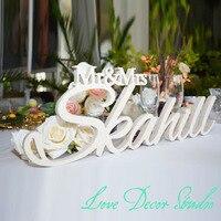 Personalized White Letter Mr And Mrs LAST NAME Wedding Custom Wedding Sign Mr Mrs Last Name