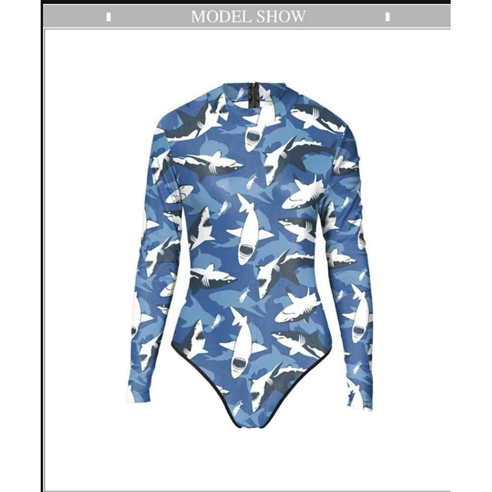 النساء ملابس السباحة UV الشمس حماية طويلة الأكمام ملابس النساء المطبوعة بدلة ركوب الأمواج طفح الحرس ملابس رياضية لباس سباحة # sx