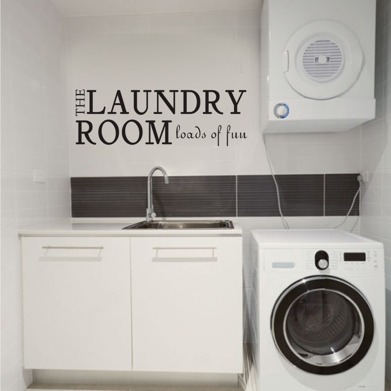 Laundry Room Wall Decal Loads Of Fun Vinyl Wall Quote Sticker Laundry  Lettering Sign 34 Part 81