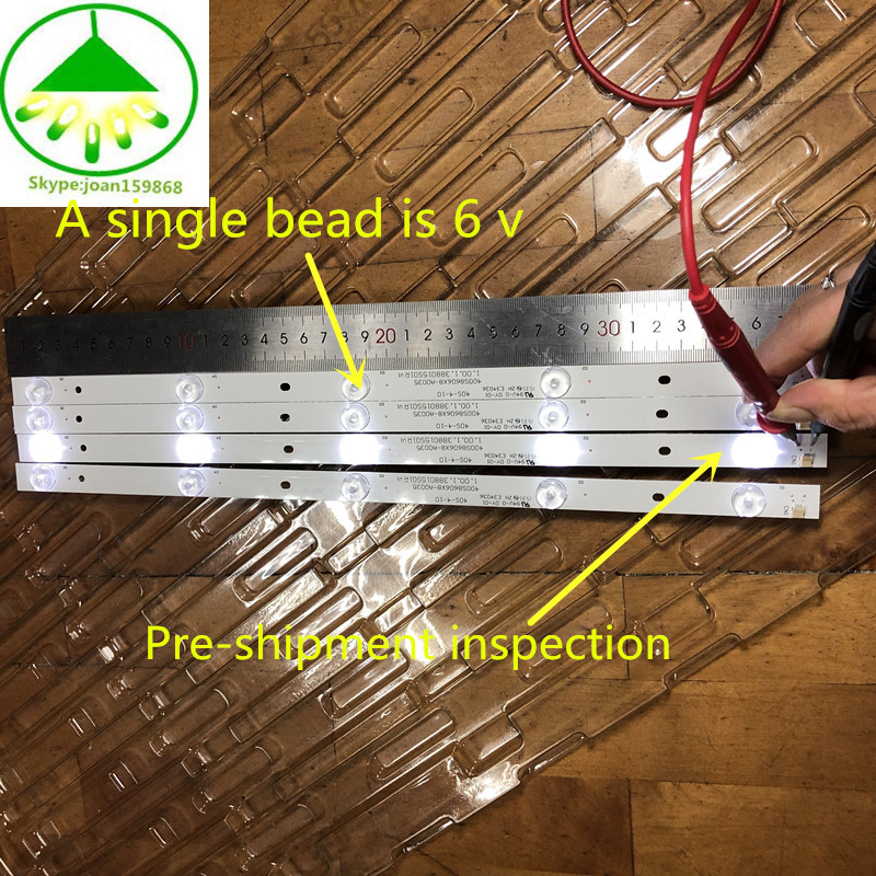 12 PCS/lot 100%NEW Good Quality LCD TV Backlight Bar FOR 400S8606X8-A0035 E34036 40S-4-10 1.00.1.388015S01R V1 94V-O DY-01