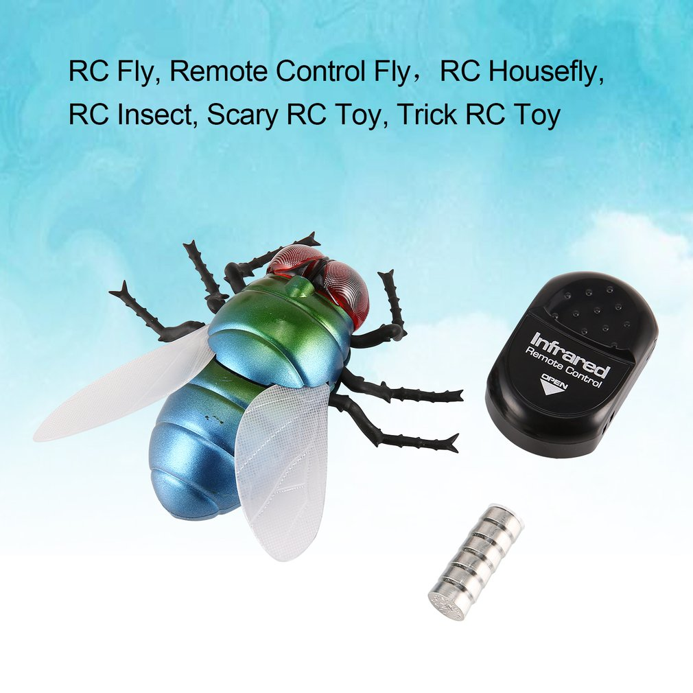 Infrared Remote Control Realistic Moke Fake Housefly Fly Rc Prank Insect Bugs For Joke Scary Trick Toy Gift Party Surprise Hot