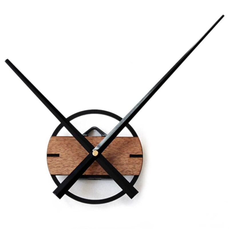 3D Sticker Silent Large Wall Clock Modern Design Big Pointer Classic DIY Clocks Wood Wall Watch For Bedroom Home Decor 12cm