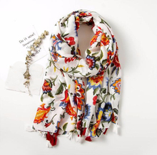 цены Vintage ethnic style scarf generous fashion color Flower print seaside holiday travel beach towel shawl