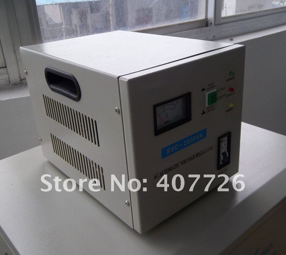 Voltage Stabilizer,95% Loading ,2000VA,single phase,Servo motor type,warranty 1 year,100% new цены онлайн