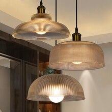 Vintage recipiente retro tapa gruesa Pantalla de cristal claro lámpara colgante G80 bombilla colgante accesorio de luz para iluminación de bar en casa