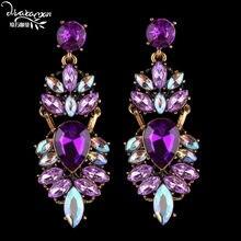 b07886b629 Popular Rhinestones Earrings Purple-Buy Cheap Rhinestones Earrings ...