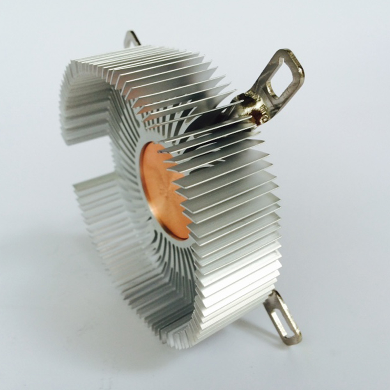 Image 2 - DIY CPU Heatsink 87.2*85.2*24.5mm Pure aluminium heat sink radiator for LED light COOLER cooling Cpu copper core radiator-in Fans & Cooling from Computer & Office