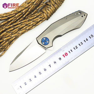 BMT 0456 Folding Knives CTS 204P Blade Titanium Handle Ball Bearing Camping Knife Outdoor Tactical Pocket Survival EDC Tools