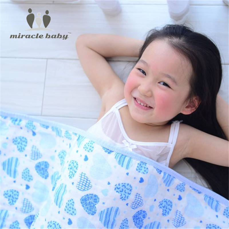 Miracle Baby Cotton Double Layers Receiving Blankets Soft Baby