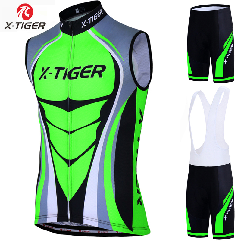 X-Tiger Quick Dry Cycling Vest Summer Sleeveless MTB Bike Clothing Ropa Maillot Ciclismo Racing Bicycle Jersey Cycling Clothes otwzls cycling jersey 2018 set mountain bike clothing quick dry racing mtb bicycle clothes uniform cycling clothing bike kit