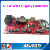 kaler China manufacturer WIFI controller card XK3W suppport 48x1536 pixel moving message led sign board controller