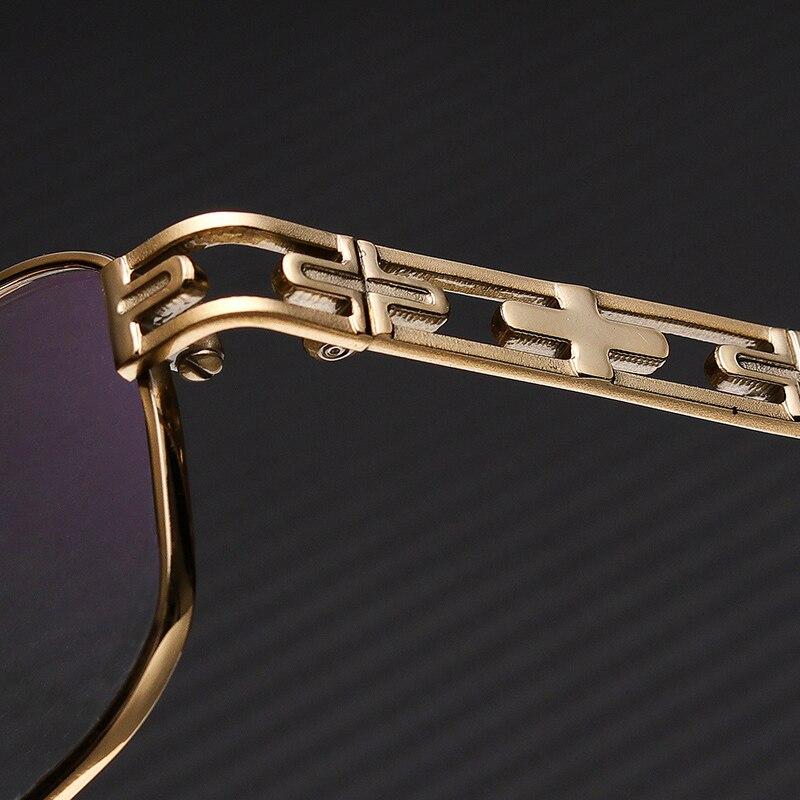 Metal Men Eyewear Frame Designer Optical Titanium Myopia Clear Brand Round Retro Vintage Trendy Full Rim Glasses #FV1008