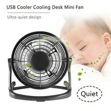 Portable DC 5V Small Desk USB 4 Blades Cooler Cooling Fan USB Mini Fans Operation Super Mute Silent PC / Laptop / Notebook(China)