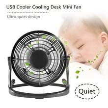 Portable DC 5V Small Desk USB 4 Blades Cooler Cooling Fan US