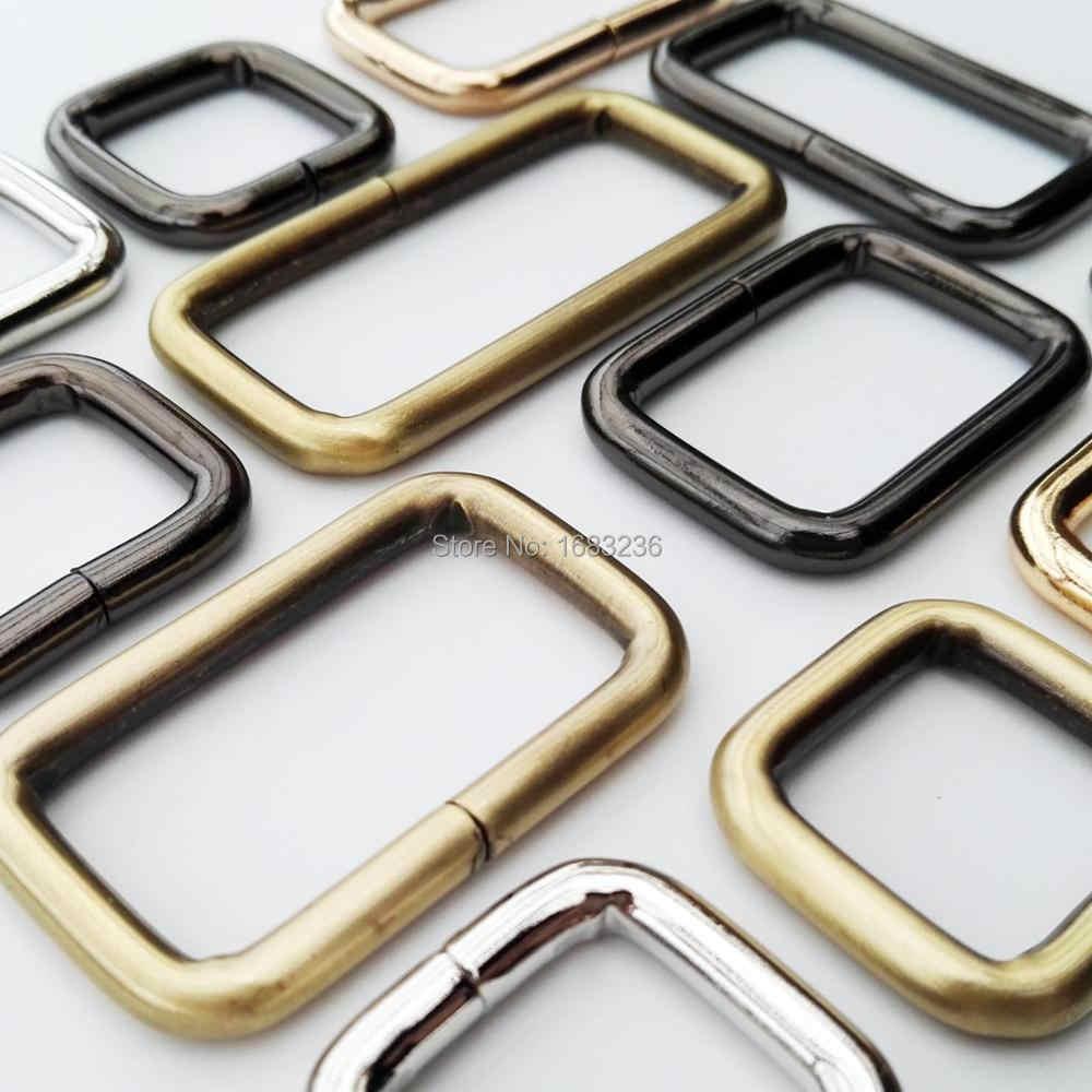 DIY металлический сверхпрочный толщина сумочка; кожаная сумка кошелек ремень веб Прямоугольник квадратный D кольцо Пряжка Застежка собака Collor Cha