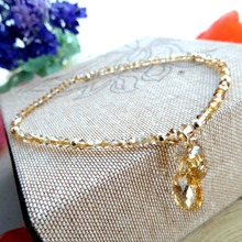 The new love tears Austria crystal jewelry foot foot ring Chain Anklet girls Korean Jiaobo birthday gift