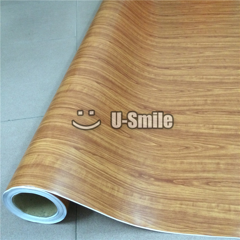 Wood Vinyl Film Wood Vinyl Sticker Grain Decal Vinyl Film For Auto Interior Furniture Wall