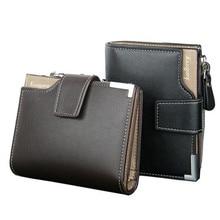 Men's Wallets Short Zipper Pocket Coin bag Photo Card Holder Purse PU Leather Clutch Wallet Boy Student wallet Cash clips
