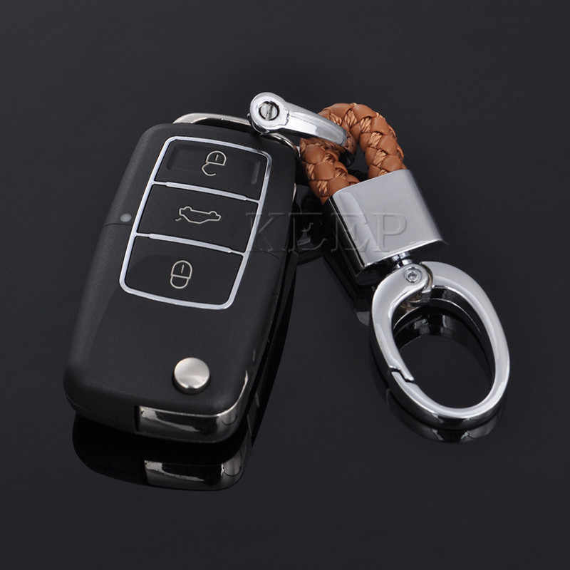 Exquisite Weave Leather Keyring Car Keychain Key Chain Key Ring Holder For  BMW Audi VW Ford Nissan Toyota Styling Accessories