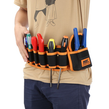 JAKEMY Инструменты для ремонта автомобиля, сумка для хранения, поясная сумка, карманы, набор ремней, 600D ткань Оксфорд для гаечных ключей, винтовой инструмент