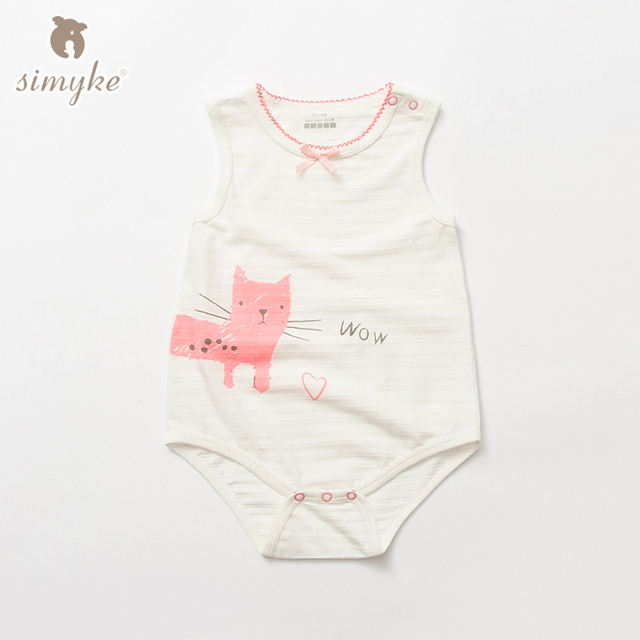 Simyke лета ребенка трико 2017new младенческой хлопок комбинезон девочка бренд одежды в целом новорожденных clothing w5320