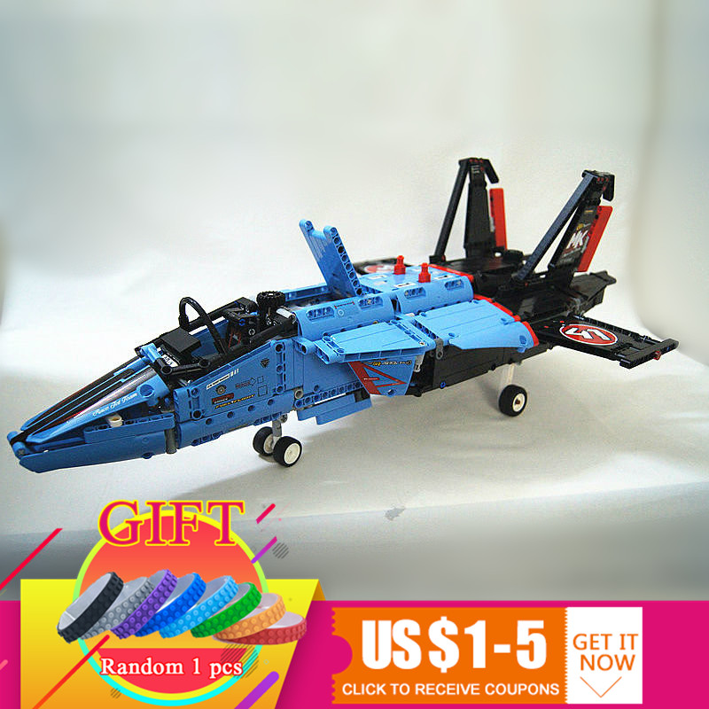 20031 1151pcs Technical Series The jet racing aircraft set Compatible with 42066 Model Building Blocks Kits Brick Toy lepin 20031 technic the jet racing aircraft 42066 building blocks model toys for children compatible with lego gift set kids