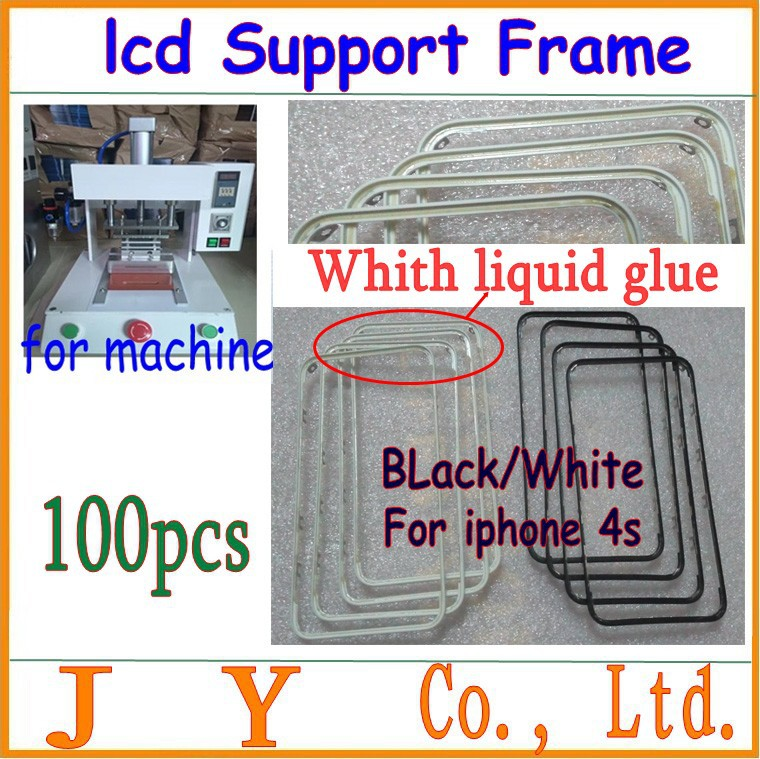 Housing-Parts iPhone Middle-Frame with Liquid-Glue for 4S LCD Chrome-Screen-Holder 100pcs