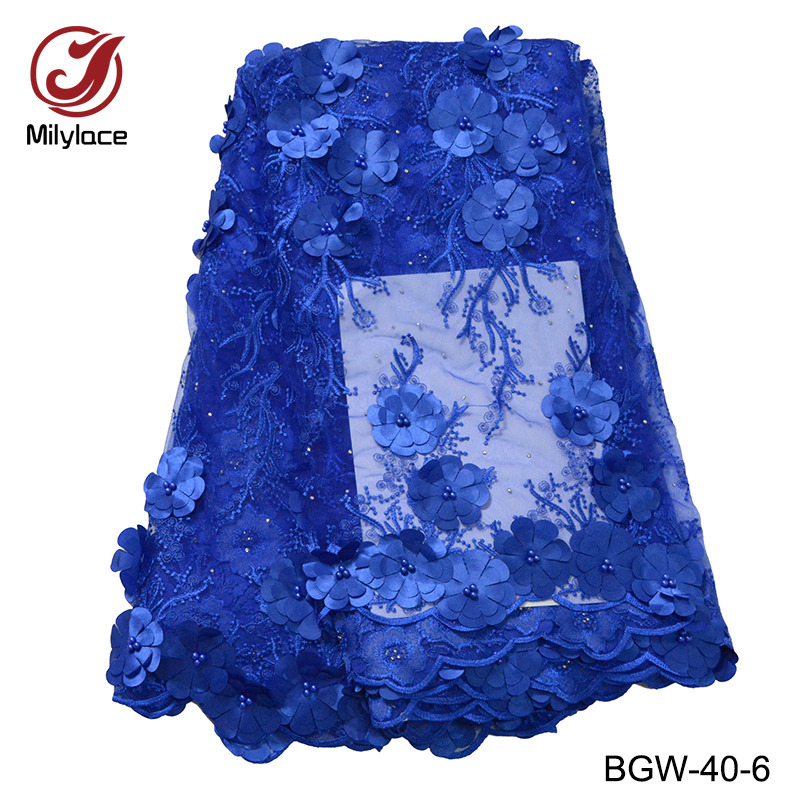 Home & Garden Popular 3d Flowers French Lace Fabric Party Bridal Wedding Dress Lace African Nigerian Swiss Cotton Lace Fabric 5 Yards