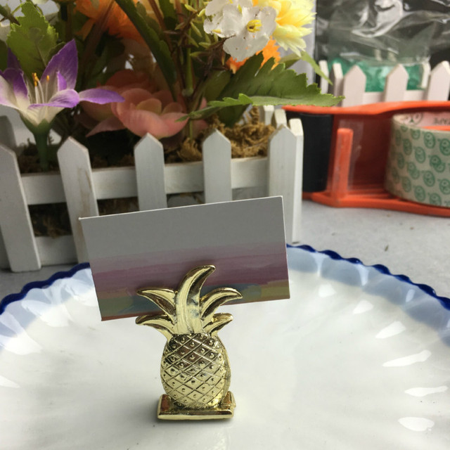 20pc wedding gift gold pineapple place card holders bridal shower favor summer wedding favors party supply