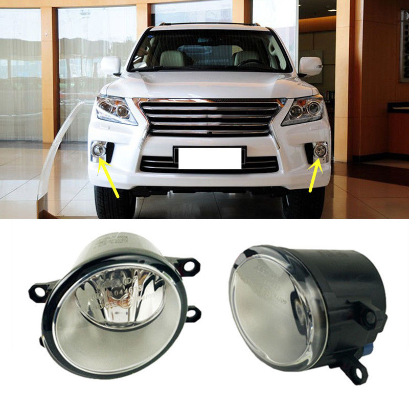 For Lexus RX270 RX350 RX450H LX460/570 2010 2012 2PCS Front Fog Lamp Cover OEM