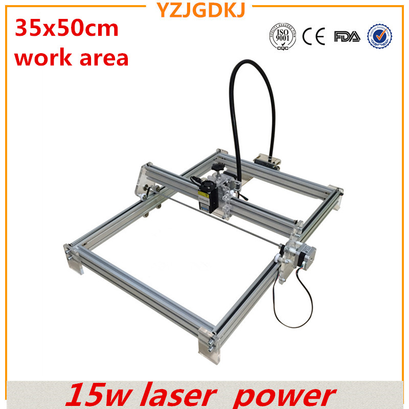 2018 New 15w DIY laser engraving machine for toy laser cutting machine ,15 laser engraver mark on metal,working area 35*50cm