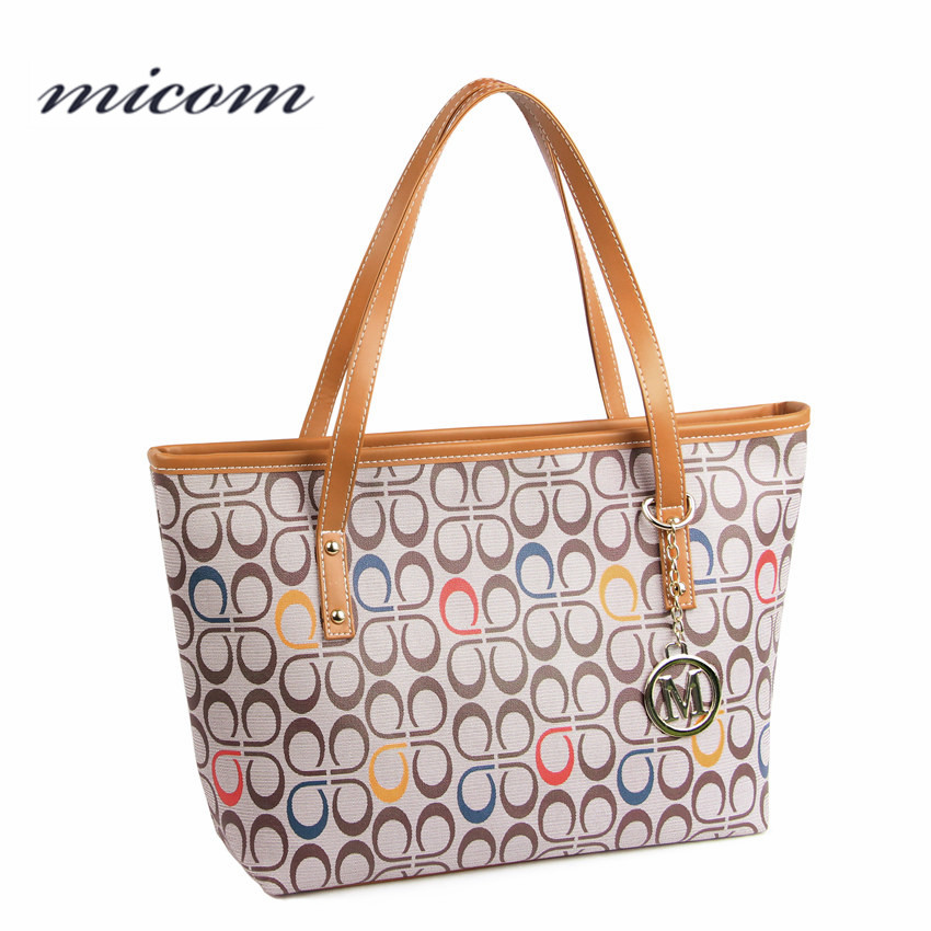 Micom Fashion Women Leather Shoulder Bag Style Luxury Handbags Women Bags Designer Letter Tote Bag Ladies Hand Bags Sac A Main qiaobao trapeze bag women leather handbags luxury brand bags sac a main bag female shoulder ladies luxury women bags design tote