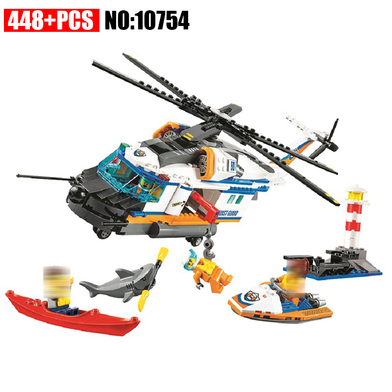 448pcs Bela 10754 City Coast Guard Heavy-Duty Rescue Helicopter building blocks DIY Educational bricks toys for children 60166 hot sale 1000g dynamic amazing diy educational toys no mess indoor magic play sand children toys mars space sand