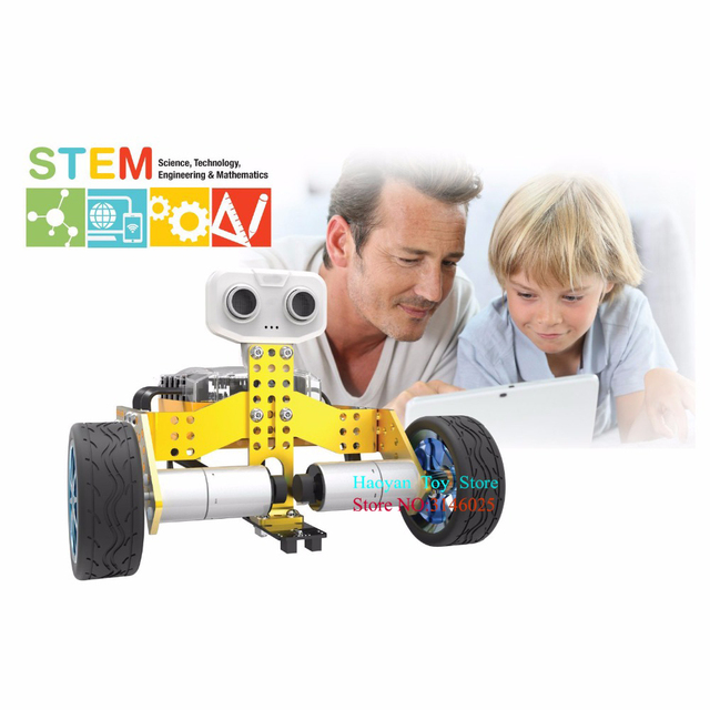 YANZCHILD New Tomo STEM Robot 2-in-1 Transformable and Programmable APP Controlled Robot Vehicle Kit for Kids Age 8+