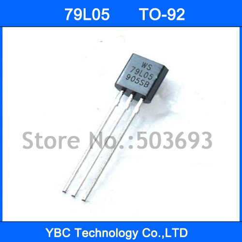 100pcs WS79L05 79L05 Voltage Regulator  100mA -5V TO-92100pcs WS79L05 79L05 Voltage Regulator  100mA -5V TO-92