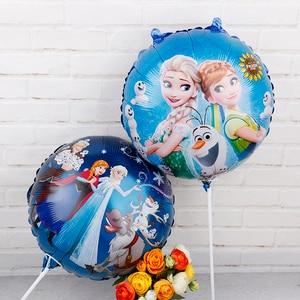 Image 2 - Globos de aluminio de Elsa y Anna de 18 pulgadas para niños, globo de princesa, reina de Frozen, decoración de fiesta de cumpleaños, suministros de baño para bebé, juguetes para niños, 60 uds.