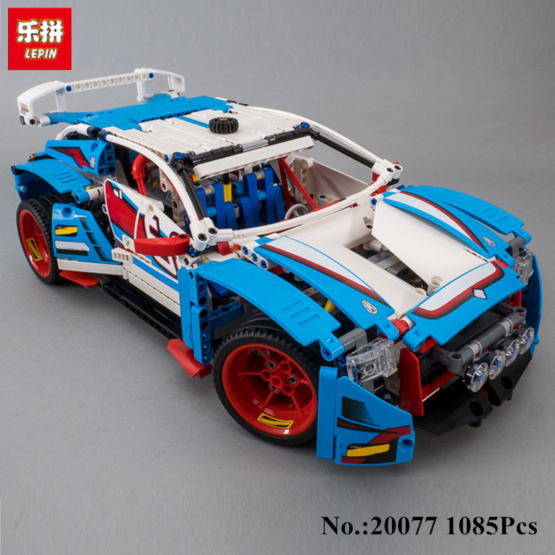 IN STOCK Lepin 20077 1085Pcs Technic Series The Rally Car Set 42077 Building Blocks Bricks Educational Funny Children Toys Gifts lepin 20076 technic series the mack big