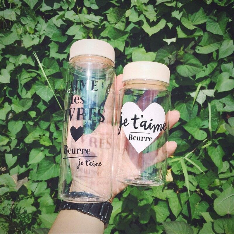 Gift 350ml/500ml Water Bottle Plastic Fruit Infusion Kids Drink Summer Outdoor Sports Water Bottle Juice Lemon Portable Kettle