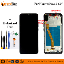 6.3 for Huawei Nova 3 LCD Display Touch Screen + Frame FHD 100% New Digitizer Assembly Replacement lcd screen
