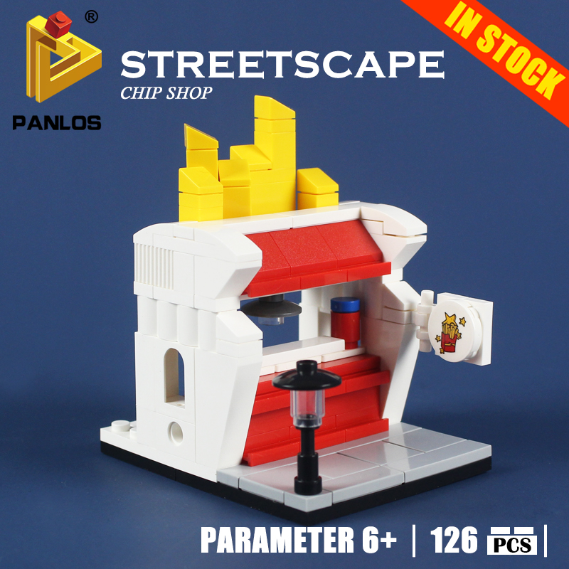 Compatible With lego city Creative STREETSCAPE CHIP SHOP Model Building Toys hobbies Blocks Educational DIY Bricks for kids gift
