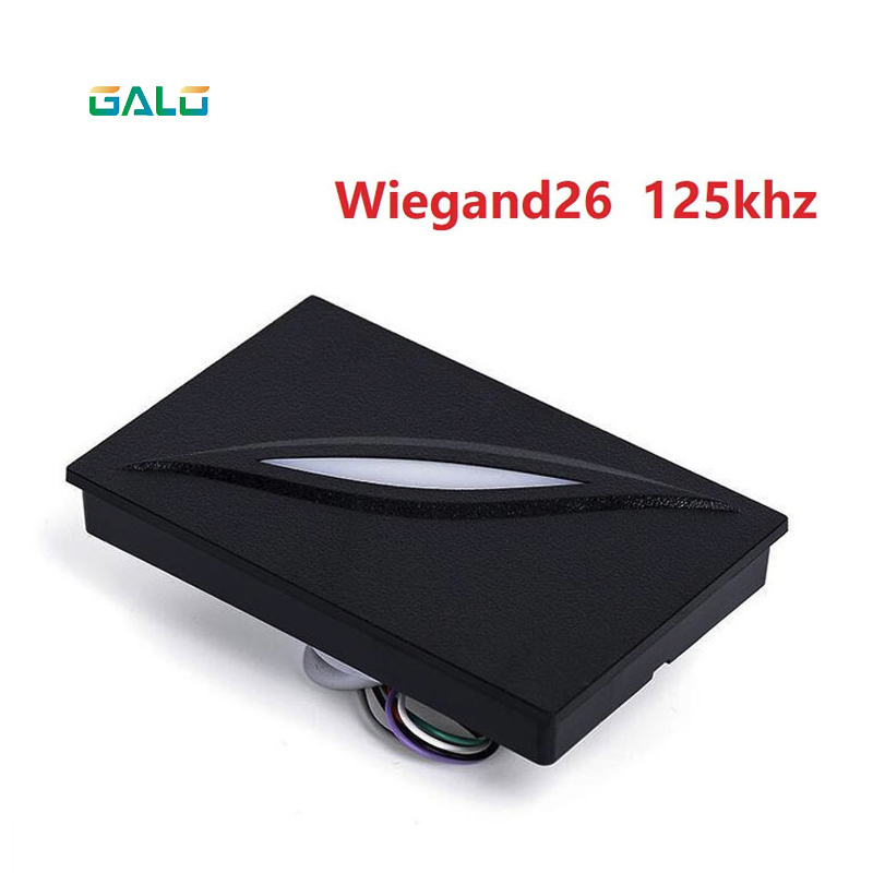 RFID EM card reader for access control system wiegand26 125KHZ RFID card reader IP65 waterproof weigand card access reader waterproof hot selling for rfid card reader access control system identification card reader with wg26 34 f1683