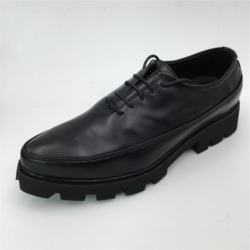 Brand Men Business Standard Officer Dress Shoes Men Leather Shoes Men Lace-Up Formal Male Wedding Oxfords Flats Shoes jx4 good quality men genuine leather shoes lace up men s oxfords flats wedding black brown formal shoes