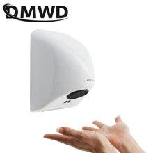 DMWD электрическая автоматическая сушилка для рук Бытовая подсветка с датчиком касания струя индукции руки сушки устройства ванная комната горячий воздух ветер воздуходувка ЕС Plug
