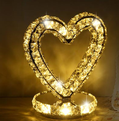 K9 crystal lamps heart shape led crystal table lamps bedroom k9 crystal lamps heart shape led crystal table lamps bedroom nightstand wedding upscale decorative table lights ac90 260v in led table lamps from lights aloadofball Choice Image