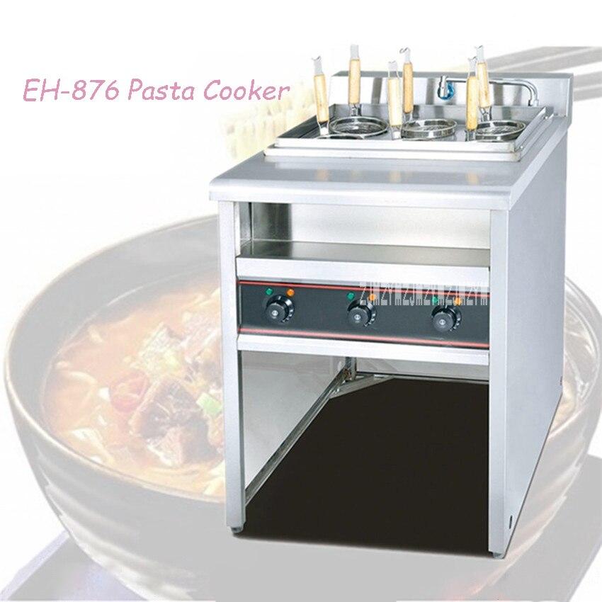 EH-876 pâtes nouilles cuiseur 6 trous Table Jet flux électrique collation cuisson cuisinière chaude Machine épice Pot chaud brochette chauffage Machine