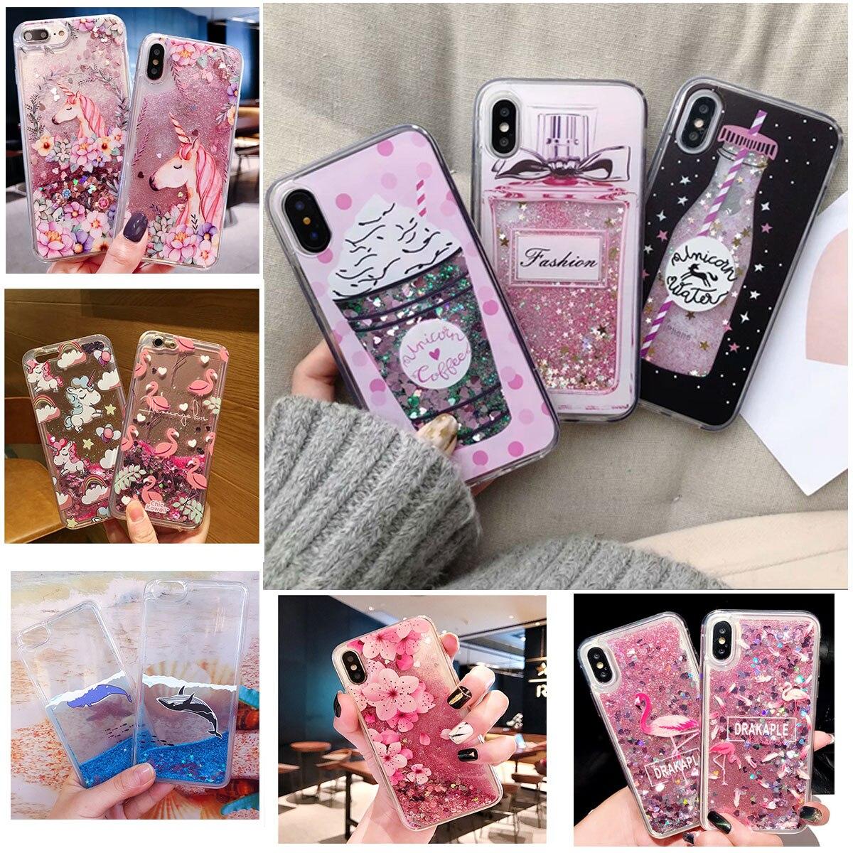 Soft-Cover Phone-Cases Unicorn Whale Liquid-Water-Case S7edge Lite-Plus A70 Minnie Samsung Galaxy