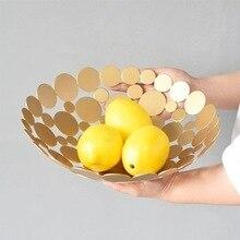 Nordic Style American Modern European Luxury Living Room Metal Creative Home Large Fruit Bowl Basket Furnishings