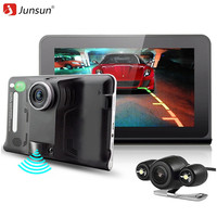 Junsun 7 Inch DVR Car Video With GPS Navigator Russia Navitel Map Vehicle Sat Nav Radar